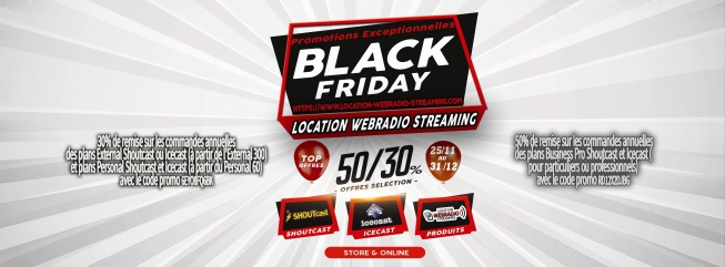Black Friday Location Webradio Streaming