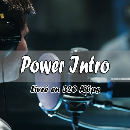 production audio power intro habillage radio et webradio