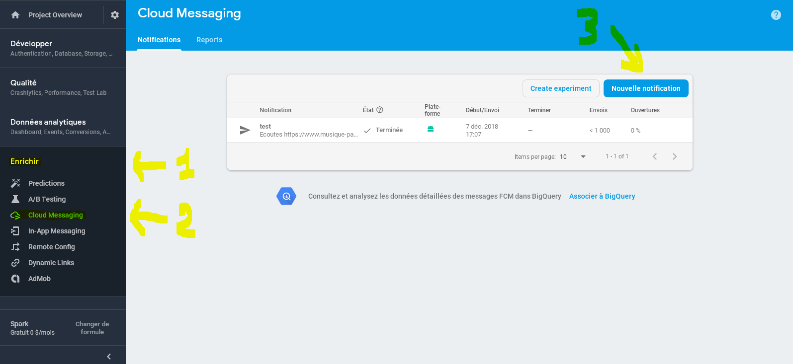 envoyer des notifications aux utilisateurs de vos applications mobiles radio