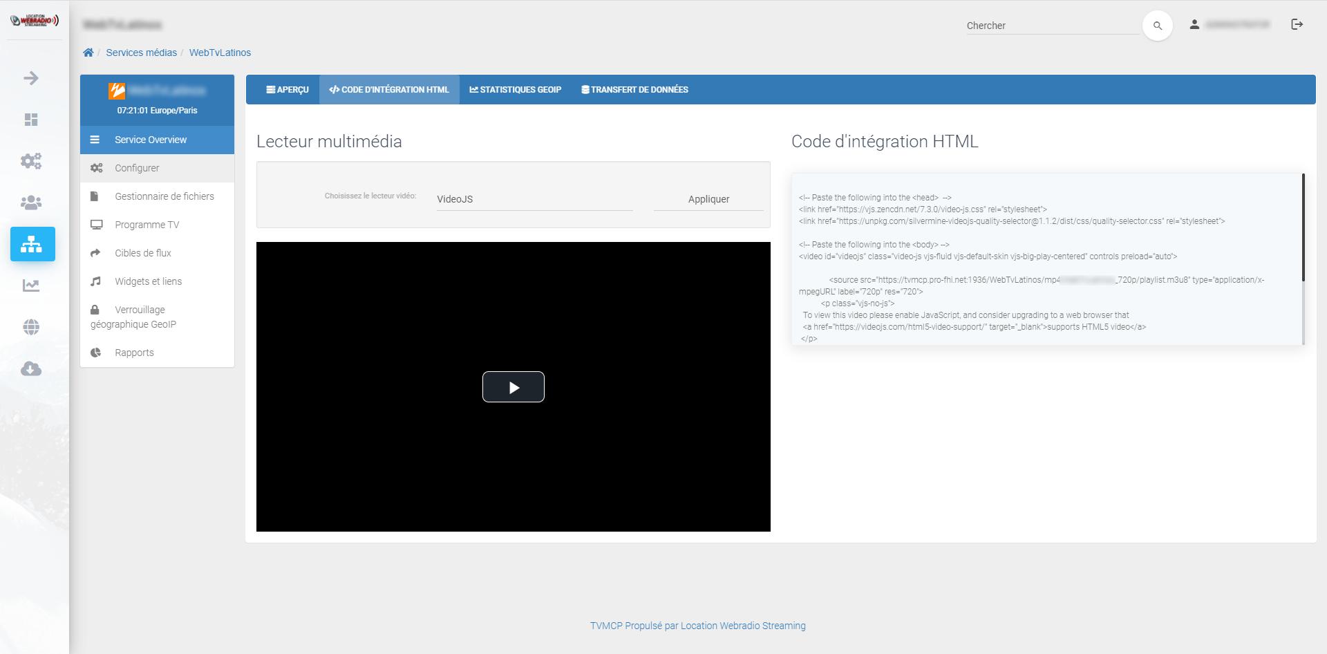 Prise en charge du transcodage vidéo et nDVR
