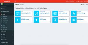 Twitter auto post menu